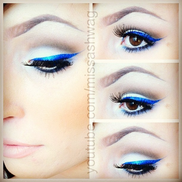 Tutorial will be up soon ;) keep a lookout for it! #youtube #makeup #blue #eyeliner #makeupartist #mua #color #makeupporn #ilovemakeup #industrypro #vegas_nay #chrisspy #loreleicakes #ashleyswagner #ashleyswagnerxo #lashes #ilovemaciggirls #maccosmetics #love