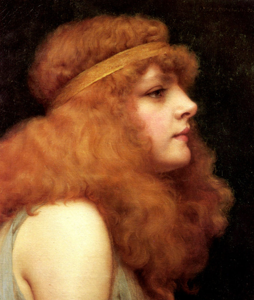 An Auburn Beauty by John William Godward (1861-1922) oil on canvas, 1895