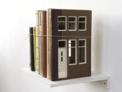 Dutch artist Frank Halmans makes book houses, in a series called Built of Books.