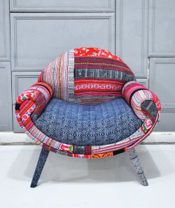 Eclectic Wannahave ~ Hmong Hilltribe patchwork Chair