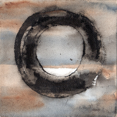 pebbleswhisper:  Contemporary artwork by Sandra Ovono. Watercolor and ink on paper