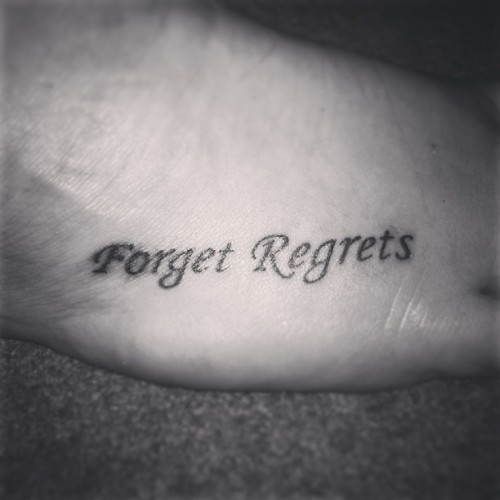 Updated pic!!!! Loving it!!! #forgetregrets #tattoo