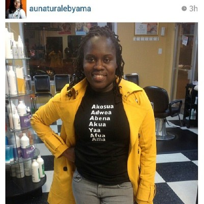 "S/O to @aunaturalebyama rocking her #CITIZINS Days of the Week"" t-shirt ..get yours @ www.citizins.bigcartel.com"