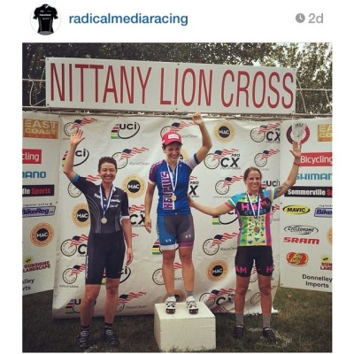 Annnd @radicalmediaracing's @victoriabrumfield podium'd @ #NittanyCX. In Aug she won the #ProspectPark Sprinter's jersey & @centuryroadclub's Jim Boyd Cup! It was all #CX prep. Heh. 👊👊👊 #rideyourbike #drinkgreatcoffee #beawesome #Grimpeur #specia