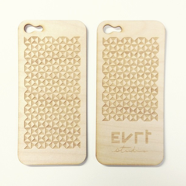 I had a couple of iPhone 5 backs lasercut from 1.5mm Birch plywood. I think they turned out pretty awesome.