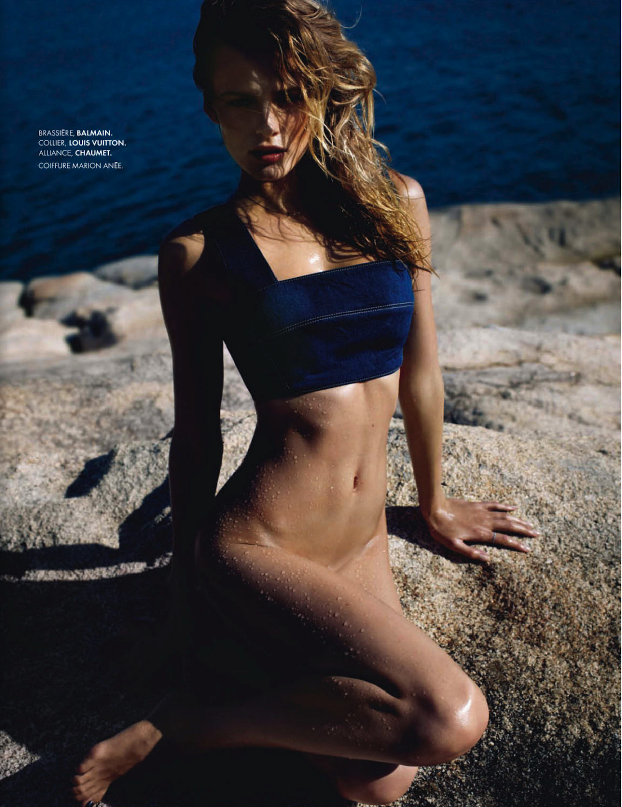 iowntherunway:   Wave of Chic Edita Vilkeviciute by Jan Welters for ELLE France #3513 See more from this set here