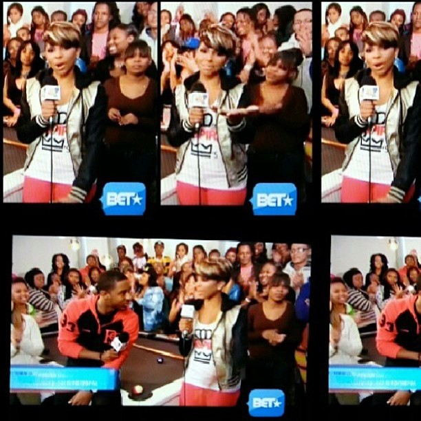 "S/O to the host of @Bet @106andPark @Missmykie rocking our signature ""Queens Inspire Kings"" tank top last night on the show. You can purchase this item on our online shop www.kingsruletogether.com/shop #QueensRuleTogether #QRT #queensinspirekings #queen #Bet #106andpark #KRT"