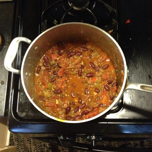 What's for dinner? Homemade chili. Yum. #cleaneats #oakland