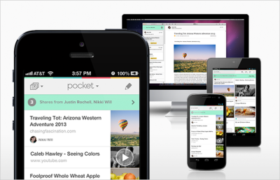 Pocket app (via Pocket goes social with new Send to Friend sharing feature | The Verge)