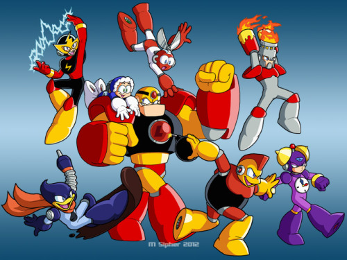 "Enjoy, the ""first"" eight Robot Masters, all in a go."