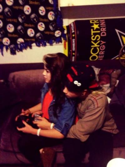 playing video games w, my baby c,: