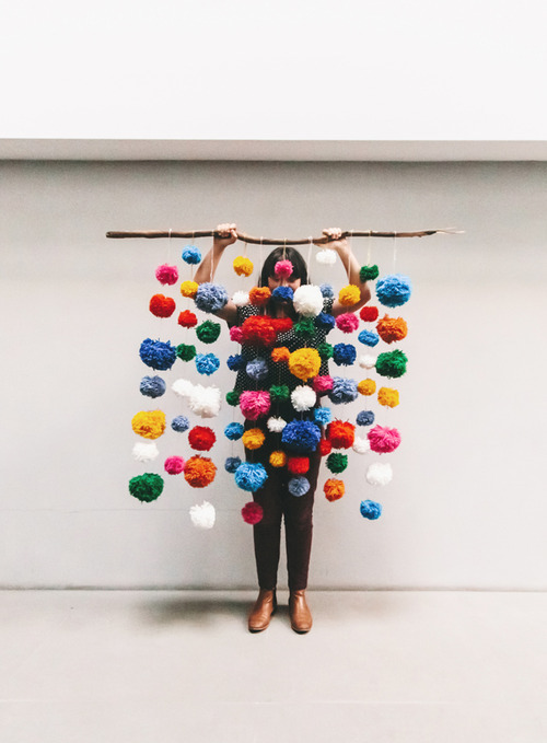 Pom Pom Installation via three nation blog