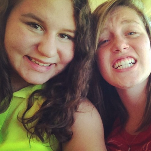 @collide_with_carapherneliaand me on the way to the pool!(: #friends #pool #fun #smiles #crazy #amazing