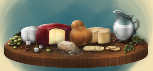 Still life for a new local cheese brand!!Ah!! My first digital still life! I don't know how to feel, this shall not be paid :'< that's too sad…