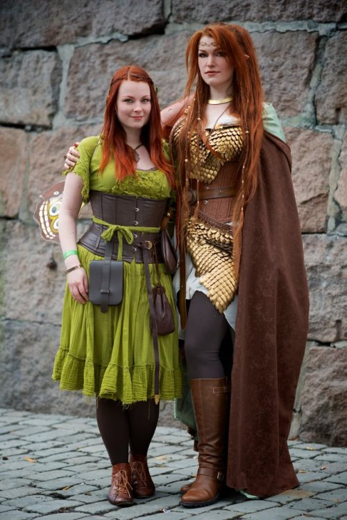 branna-laurelin:  My dear friend Tathariel and I at Desucon Fantasy in Oslo last Saturday. I had such a great time! Notice the little fairy wings I'm wearing (though they are hard to see), which Tathariel made and was kind enough to lend me so that I could be a forest fairy!
