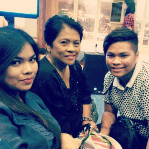 My sister, my Mom and I when my Mom was interviewed for Sharon's Kasama mo, Kapatid Show.  This was when they featured individials who serve as an angel in disguise to other people. Advance Happy Mother's Day, Mom! Proud son here! #tbt #throwback #throwbackthursday #instadaily #bestoftheday #photooftheday #picoftheday #igdaily #instagram #instagramhub #family #MothersDay #Mother #Son #SharonCuneta #Pretty #Gorgeous #instagramhub #instapinoy #instabest (at Wowowillie Studio)