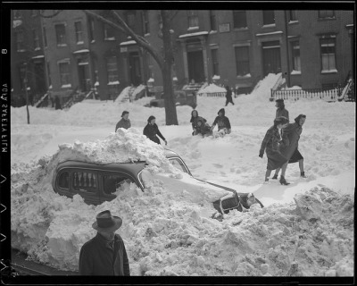 Digging out auto by Boston Public Library on Flickr.We never have snow here :( *jealous*