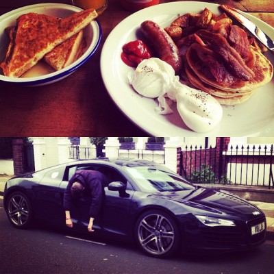 Before and after @thebrekkyclub. Too full to get out #pancakes #r8 #london  by lonandaniel