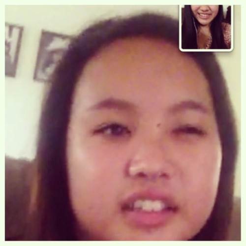 She cute, she cute. Hahaha. FaceTimed with this hottie😄😘😝😂😎😆😏👍👌✌#hottie #alert #asian #eyes #cutie #facetime #dont #hate #lol #dontjudgeus