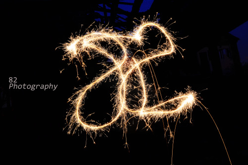 Having fun with sparklers. © 82 Photography