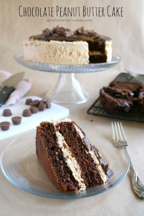 chocolate peanut butter cake click here for recipe