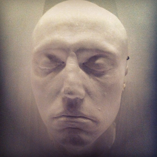 Life Mask for Christopher Walken (at Museum of the Moving Image)