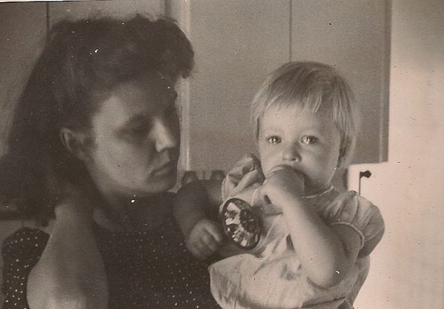 Lydia on Flickr.Totally different type of flashback friday. My mommom in the 40's.