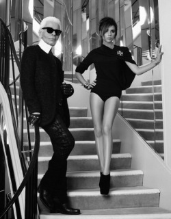 stylelives:  Karl Lagerfeld and Victoria Beckham in Chanel