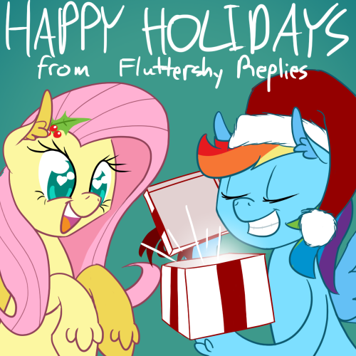 ((What's Rainbow Dash givin' Fluttershy for Christmas Hearth's Warming? I dunno man use your imagination))