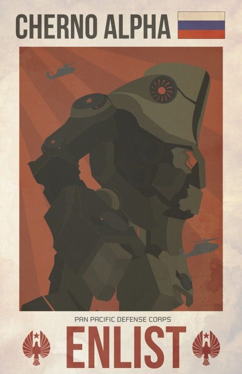 lrdezign:  Mother Russia! Cherno Alpha Jaeger Pacific Rim.   LOVE IT!
