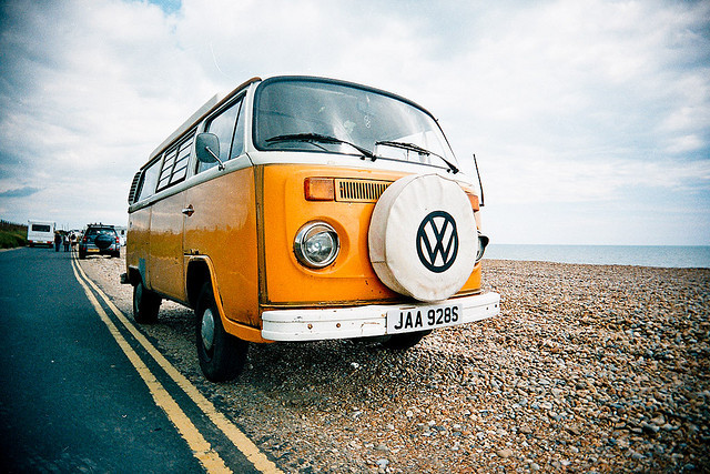 Camper on the Beach by AndyWilson on Flickr.