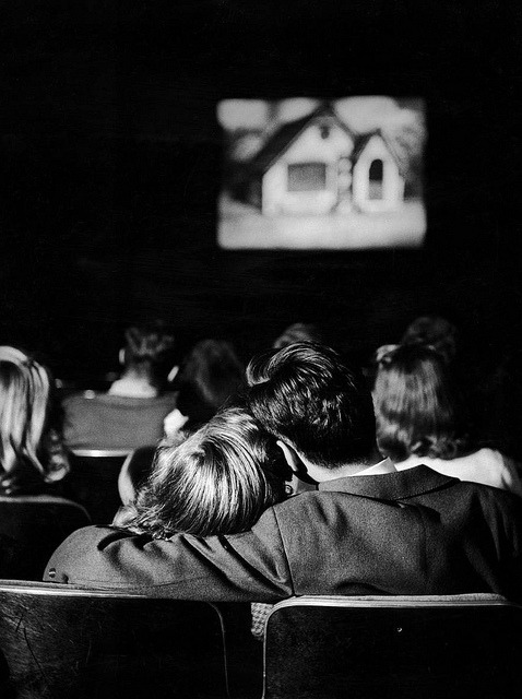 thepoetsdead:  Leen, Nina (1914c.-1995) 1944 Teenagers in a Movie Theater by RasMarley on Flickr.