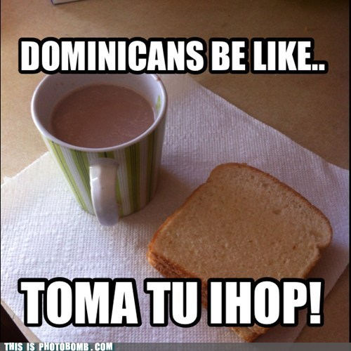"jugodechinola:  blackwhitespanishgirl:  tanama:  citrussun:  toma tu ihop!  lol This is my parents - all day lol  Nothing beats pan con chocolate in the morning. I have it everyday. I wish it was chocolate de tabla though. *sigh*  This shit sustained me in high school. Pan ""sobao"" with mantequilla, served with a chocolate caliente."