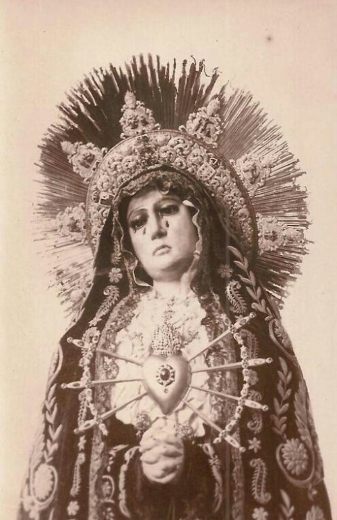 Virgen de los DoloresA Spanish statue of Mary as the Mother of Sorrows.