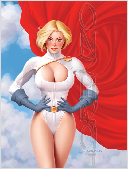 lulubonanza:  Power Girl by ~LorenzoDiMauro