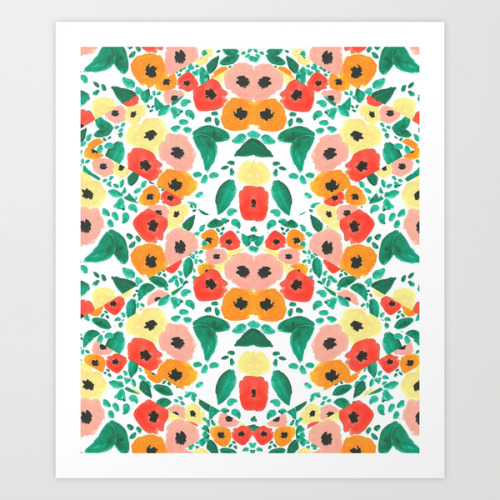 Floral Kaleidoscope is now on Society6! Why not decorate your walls with this awesome art print? You can also decorate your iPhone/Samsung with a case or your bed or couch with a pillow!http://society6.com/KendraDandy/Floral-Kaleidoscope_Print