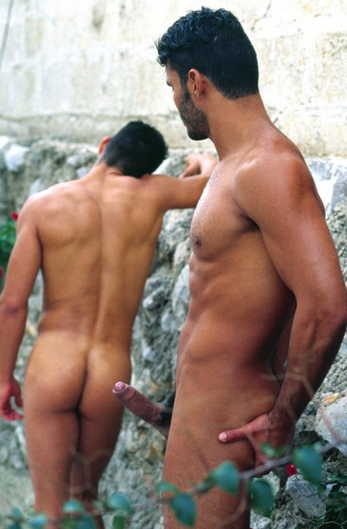 churchofhomosexuality:  hunternprey:  Adam and Adam in paradise !  desire  Fuck! Talk about intent and purpose. More visceral and real because of the un-staged feel to my mind. Let's imagine this really is the pursuit of pleasure. Why? Well because pleasure is all we look for in everything we do. Now form two orderly queues… gasp!