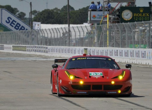 The Risi Competizione Ferrari at today's 12 Hours of Sebring.