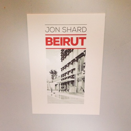 jonshard:  Preparing for my Beirut exhibition tonight