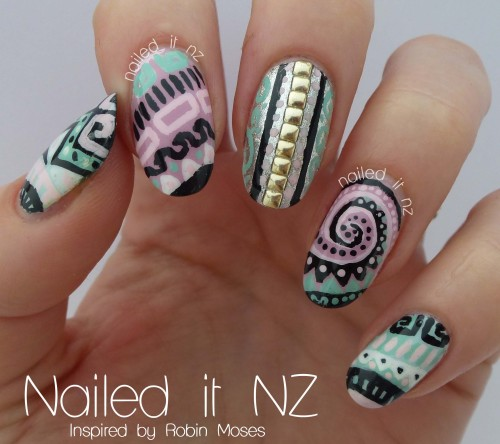naileditnz:  These are my favourite nails I've ever done! So happy they worked out, and I even did them on both hands! Check them out here ☺.