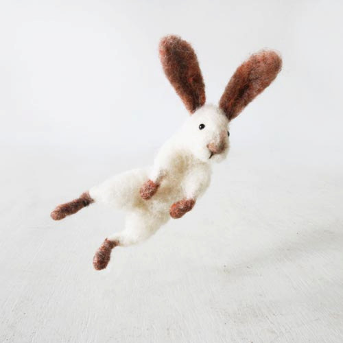 Jumping bunny rabbit Sir Hopsalot design by forestbluefactory