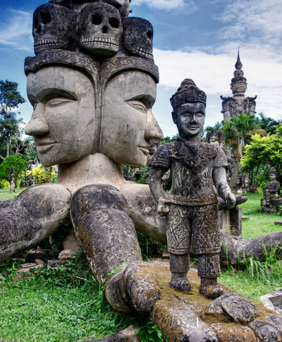 visitheworld:  The Buddha Park in Vientiane, Laos (by ignacio izquierdo).