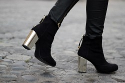 cute fashion Cool heels shoes rock style vintage black outfit Boots moda shoe studdedsophia
