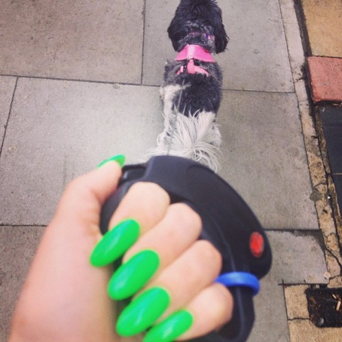 Rocking lime green nails :-)