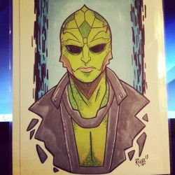 Art commission of Thane Krios from the Mass Effect series.