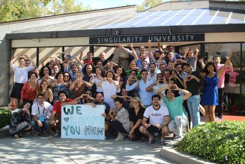 """oxehmoron:  The GSP14 class just wanted to say,""""We love you Mom!"""""""