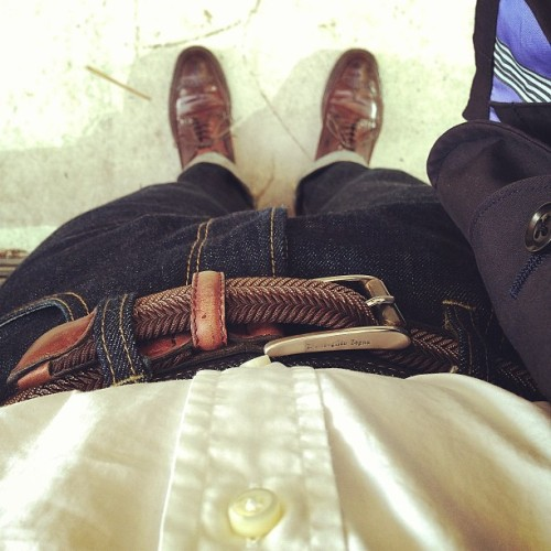 I do a lot of waiting around, even without rushing.. *this belt is nearly 10 years! #iphone5