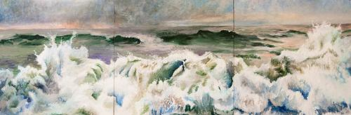 """Rough: Early Morning"" by Jane Sherrill Her paintings of the sea are very impressive — much more so in person than on her webpage.  very strange how much of a difference that makes."