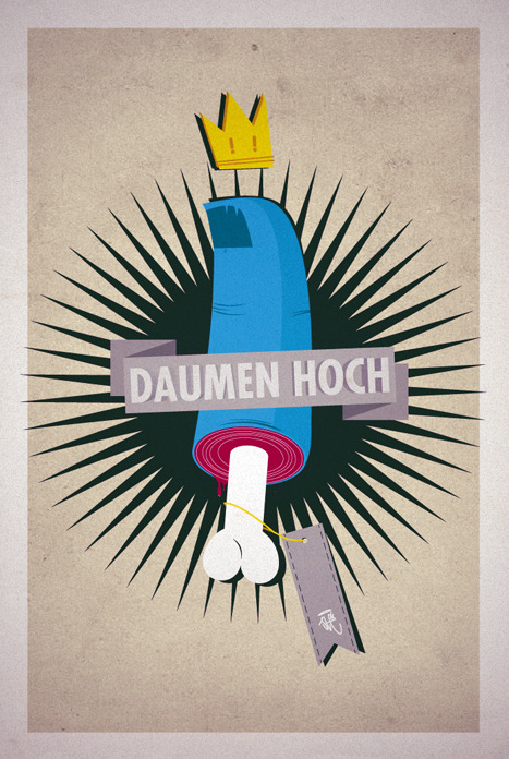 "printed present for chill-ill's new track ""daumen hoch"" of his upcoming album by yours truly ""ste"""