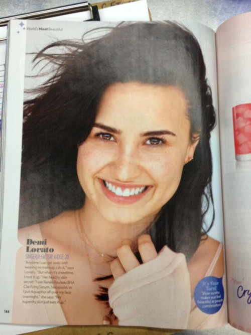 "lalovatoland:  Demi Lovato in People Magazine's ""Most Beautiful"" Issue"
